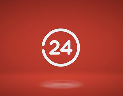 Rebranding 24 horas - TVN