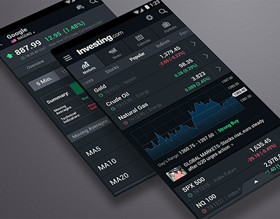 Investing.com Android app - Dark Theme