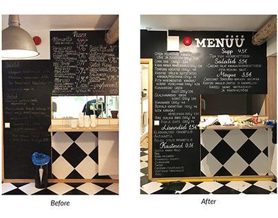 Blackboard menus of 2018