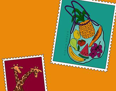 Stamps of Nairobi city, Kenya by Nikita Abuya