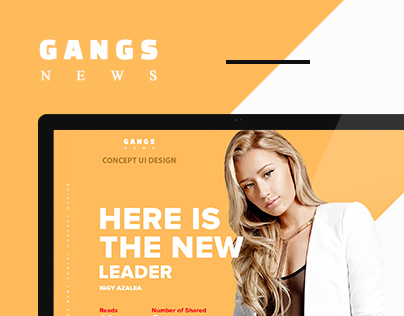 Gangs News - Concept UI Design