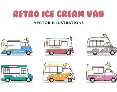 Retro Ice Cream Van Illustrations