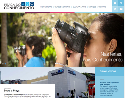 Praça do Conhecimento | website