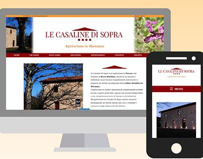 Le Casaline di Sopra - Web Design