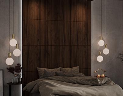 Modern Bedroom Rendered