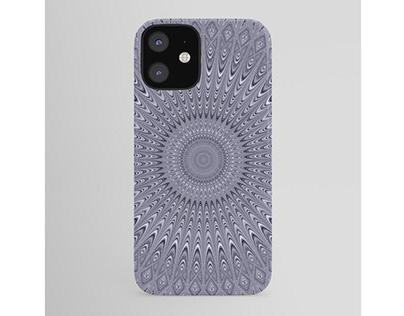 Silver Mandala iPhone Case