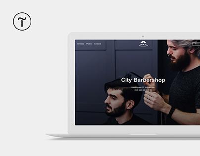 Barbershop landing page template