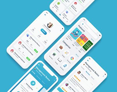 Online Course Mobile App UI/UX Design Concept