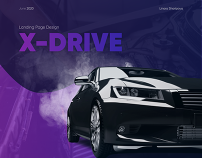 Landing Page Design for X-DRIVE car service