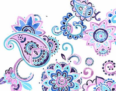 Folk Floral Sketches
