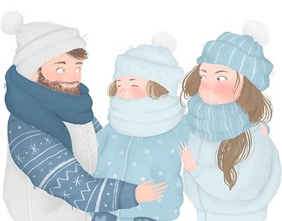 Illustraitions for NIVEA ad compaign