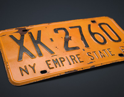 1962 New York Licence Plate - CGI