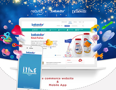 Baby E-commerce Web Concept & Mobile Application