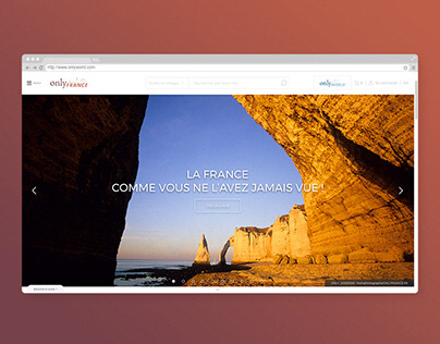 Refonte site - ONLYFRANCE
