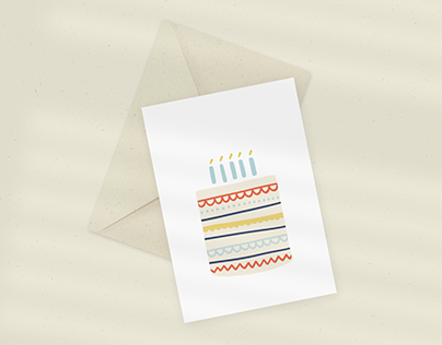 Eökke — Eco Greeting Card — Big Cake