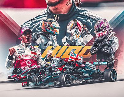 Lewis Hamilton 100 Wins Poster