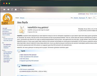 habeRSS Projesi Web Sitesi