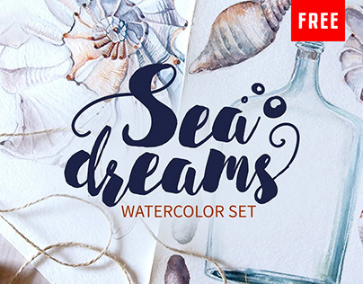 (Free) Nautical Watercolor Illustrations