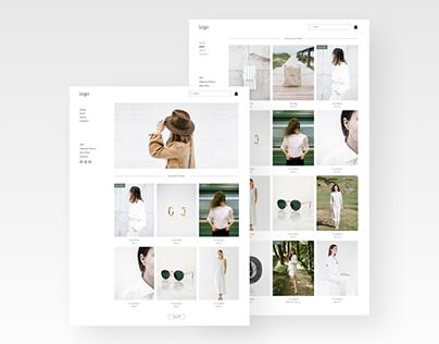 Online store website template design