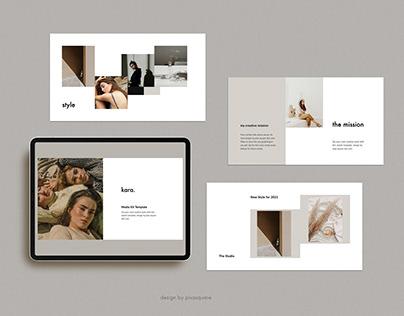 KARA - Media Kit Branding Design Template Presentation