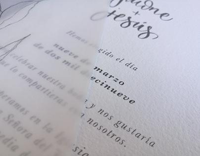 PAPELERÍA DE BODA: Invitaciones & decoración J&J