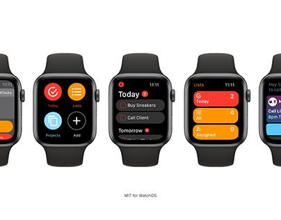 TO DO App Design - WatchOS & MacOS