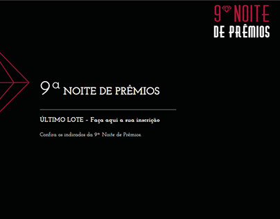Site 9ª Noite de Prêmios ESPM-SUL