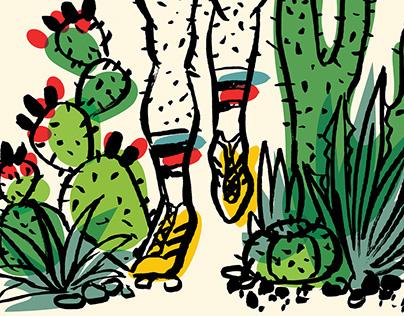 Austin Marathon Concept (Cactus Legs)