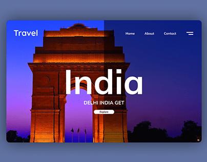 Delhi India Gate Landing Page UI Design