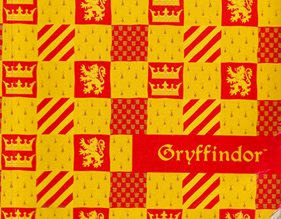 Checkered Gryffindor Sketchbook 2018