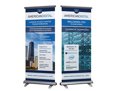 Tech event banners for American Digital