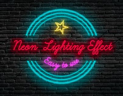 Neon lighting effect