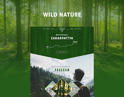 """Wild Nature"" Landing Page Design Project 