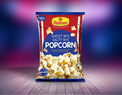 Haldiram Popcorn Packaging Design