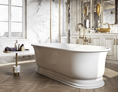 Furniture Rendering for a Bathroom Interior Design