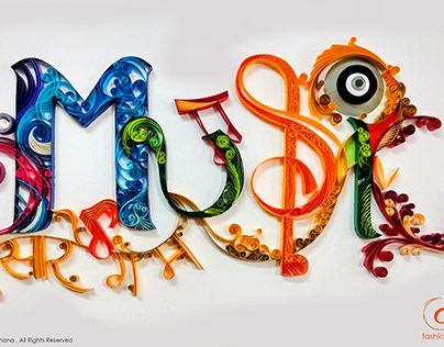 MUSIC - PAPER QUILLING ARTWORK