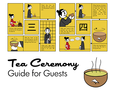 Tea Ceremony: Guide for Guests - Wall Chart & Leaflet