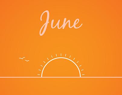 Solstice Sunset - June 2017 Wallpaper