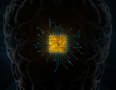 Brain Microprocessor Hardware Connections Concept