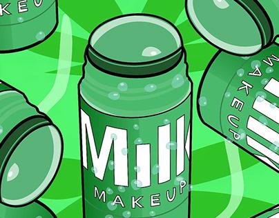 Beauty Product Illustration of Milk Makeup