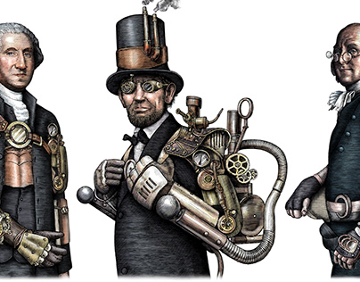 The Steampunk Portraits Illustrated by Steven Noble
