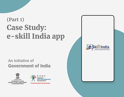 UX Research: e-skill India (Part 1)