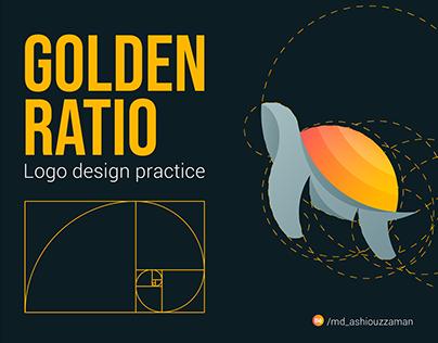 GOLDEN RATION LOGO design practice project