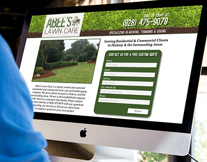 Abee's Lawn Care Print & Web Design