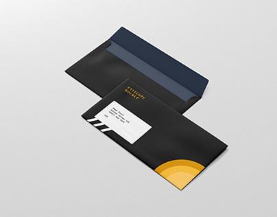 Black Envelope Design Mockup