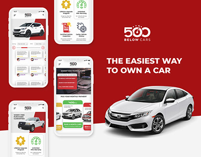 UI/UX design 500 Below Cars: Car loan platform