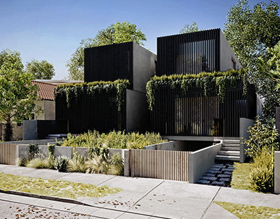 Duplex house in Melbourne, Australia