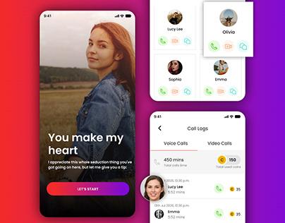 Interactive Dating App Design