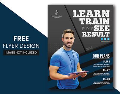 Modern fitness & gym flyer Free Vector