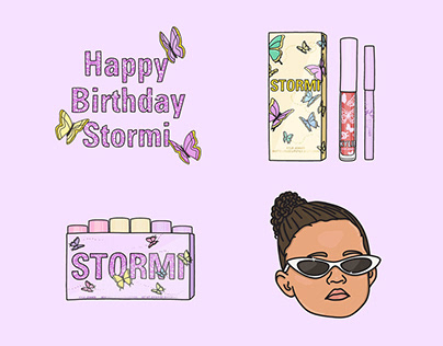 Instagram story GIF Stickers for KYLIE Cosmetics Stormi